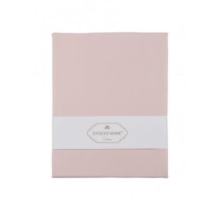 Простынь Tivolyo Home сатин 260x300 (розовый)