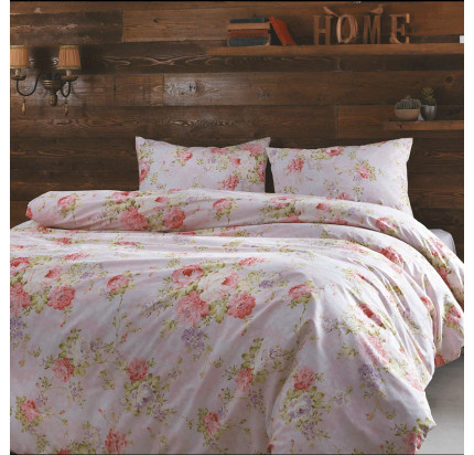 Постельное белье Tivolyo Home Fresie (розовое)