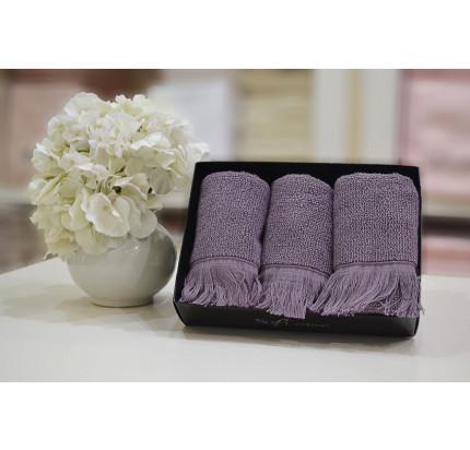Набор салфеток Soft Cotton Fringe фиолетовый (3 предмета)