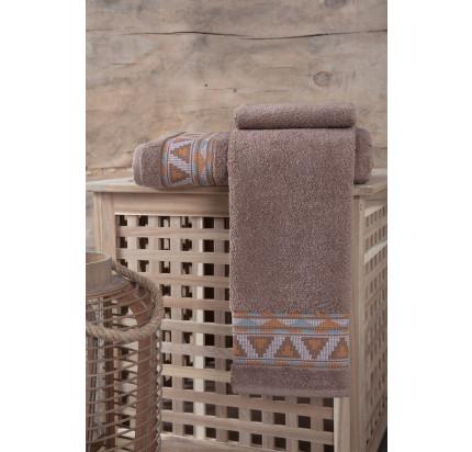 Полотенце Karna Giza (коричневое)