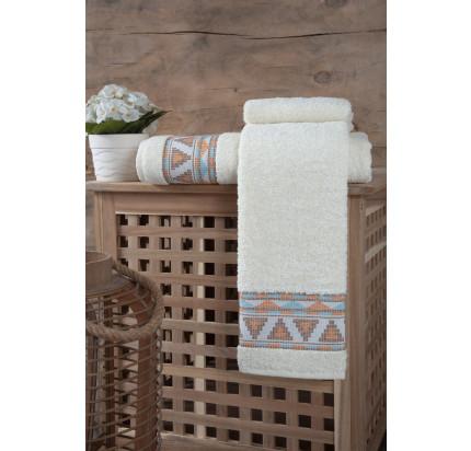 Полотенце Karna Giza (кремовое)