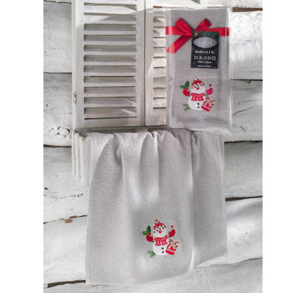 Новогоднее полотенце-салфетка Karna Noel (серый) V1 40x60