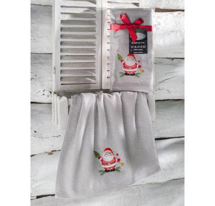 Новогоднее полотенце-салфетка Karna Noel (серый) V2 40x60
