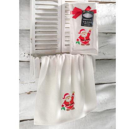 Новогоднее полотенце-салфетка Karna Noel (кремовый) V3 40x60