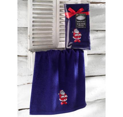 Новогоднее полотенце-салфетка Karna Noel (синий) V1 40x60