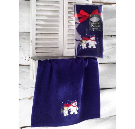 Новогоднее полотенце-салфетка Karna Noel (синий) V4 40x60