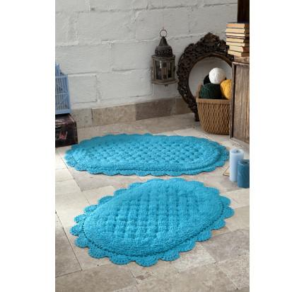 Набор ковриков для ног Modalin Merit (бирюзовый) 45x60+50x80
