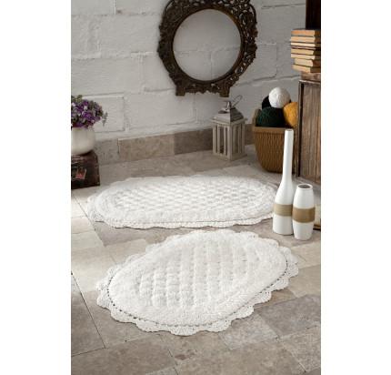 Набор ковриков для ног Modalin Merit (кремовый) 45x60+50x80