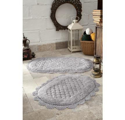 Набор ковриков для ног Modalin Merit (светло-серый) 45x60+50x80