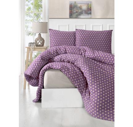 Постельное белье трикотажное Karna Yumse (фиолетовое)