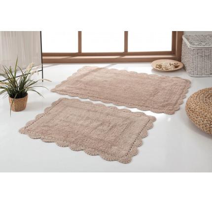 Набор ковриков для ног Modalin Evora (бежевый) 50x70+60x100