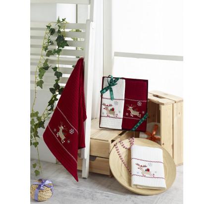 Новогодний набор салфеток Karna Happy V7 (40x60, 2 предмета)