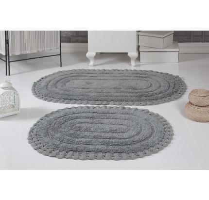 Набор ковриков для ног Modalin Yana (серый) 50x70+60x100