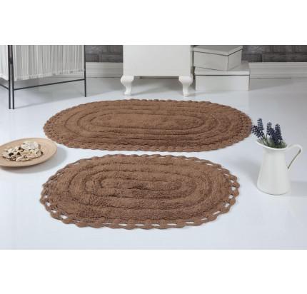 Набор ковриков для ног Modalin Yana (горчичный) 50x70+60x100