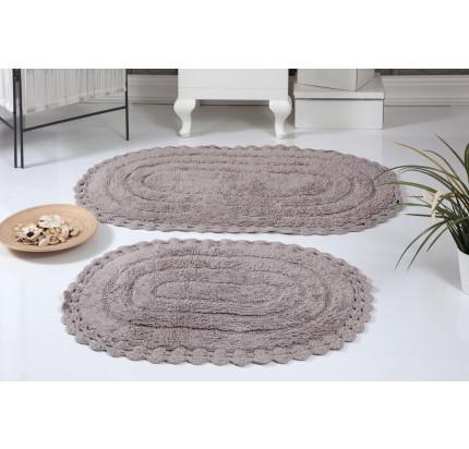 Набор ковриков для ног Modalin Yana (мокко) 50x70+60x100