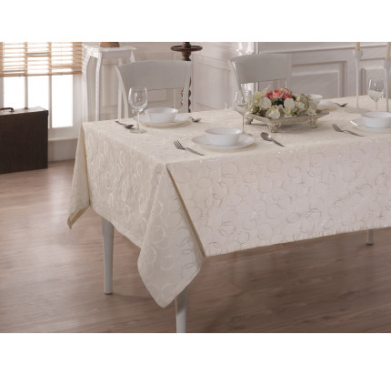 Скатерть Karna Cotton Linen V5 160x220