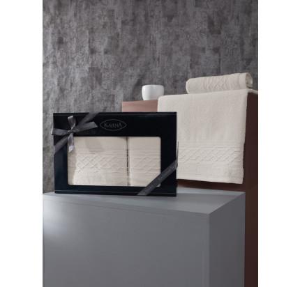Набор полотенец Karna Gravit (экрю, 2 предмета)