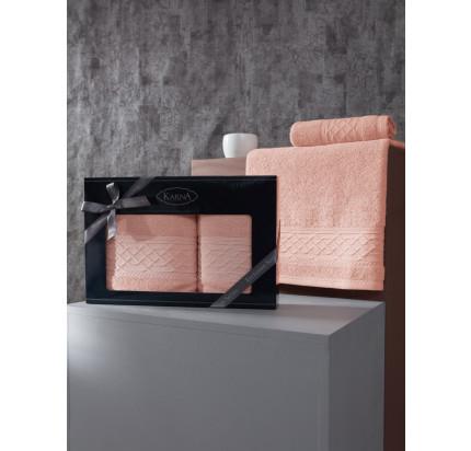 Набор полотенец Karna Gravit (абрикосовый, 2 предмета)
