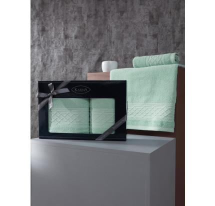 Набор полотенец Karna Gravit (зеленый, 2 предмета)