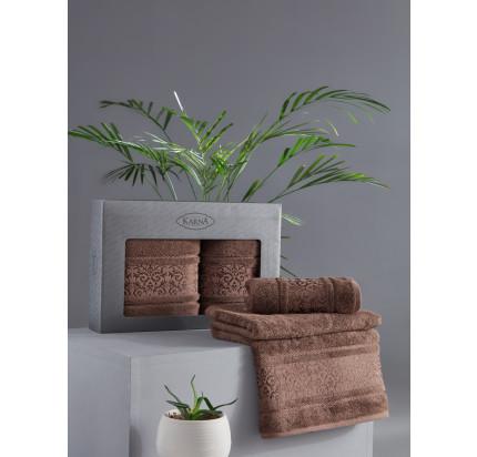 Набор полотенец Karna Armond (коричневый, 2 предмета)