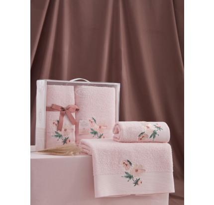Набор полотенец Karna Valdi (розовый, 2 предмета)