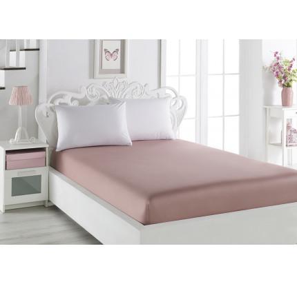 Простынь на резинке Karna Loft (грязно-розовый) 240x260