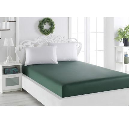 Простынь на резинке Karna Loft (зеленый) 240x260