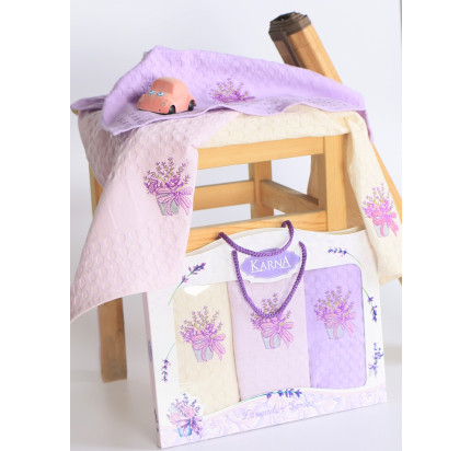 Салфетки Karna Lavender (3 предмета, 45x65)