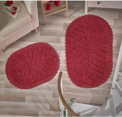 Набор ковриков для ног Modalin Cross (красный) 50x70+60x100