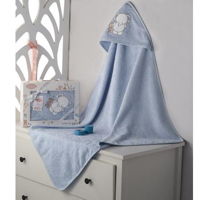 Полотенце-конверт Karna Bambino Slon (голубой)