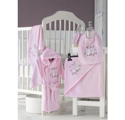Банный набор Karna Baby Club на 1-3 года (5 предметов, розовый)