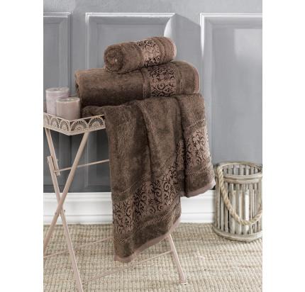 Полотенце Karna Armond (коричневое)