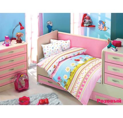 Детское белье в кроватку Altinbasak Gulucuk Песик (розовое)