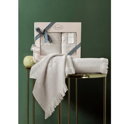 Набор полотенец Karna Monard (бежевый, 2 предмета)