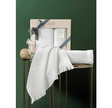 Набор полотенец Karna Monard (экрю, 2 предмета)