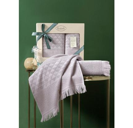 Набор полотенец Karna Monard (светло-лавандовый, 2 предмета)
