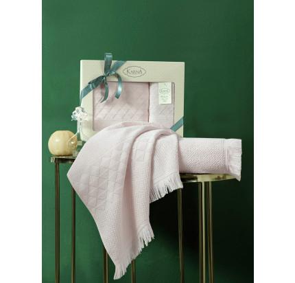 Набор полотенец Karna Monard (пудра, 2 предмета)