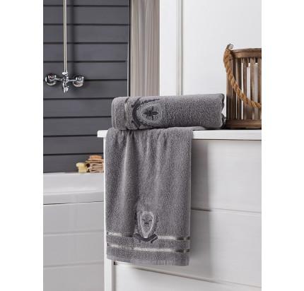 Набор полотенец Karna Patara (серый, 2 предмета)