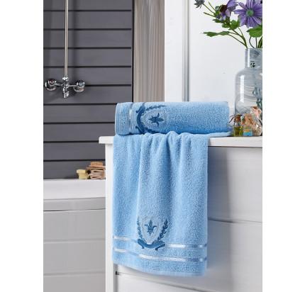 Набор полотенец Karna Patara (голубой, 2 предмета)
