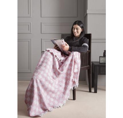 Плед Karna Isabella (розовый) 130x150
