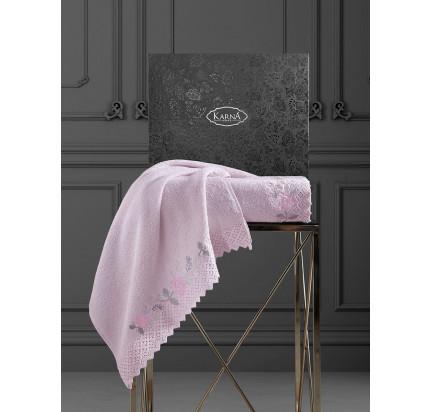 Набор полотенец Karna Amora (розовый, 2 предмета)