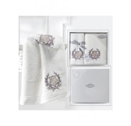 Набор полотенец Karna Davis (серый, 2 предмета)