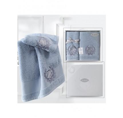 Набор полотенец Karna Davis (голубой, 2 предмета)
