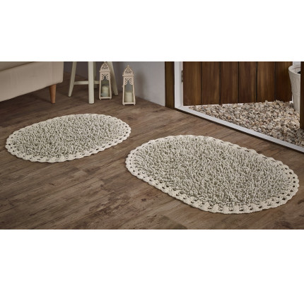 Набор ковриков для ног Modalin Dual (кремовый) 45x60+50x80