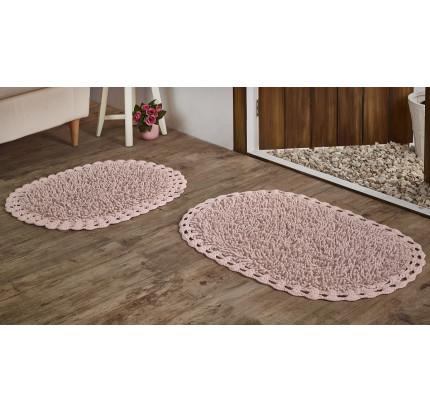 Набор ковриков для ног Modalin Dual (розовый) 45x60+50x80