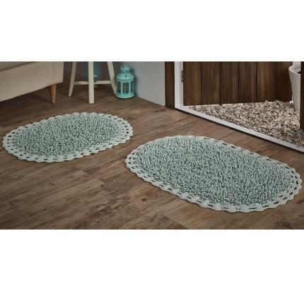 Набор ковриков для ног Modalin Dual (светло-зеленый) 45x60+50x80