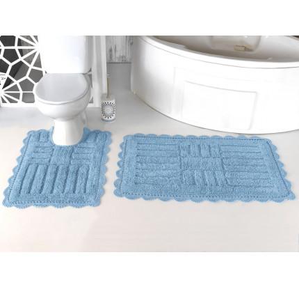 Набор ковриков для ног Modalin Ancor (светло-голубой) 50x70+60x100