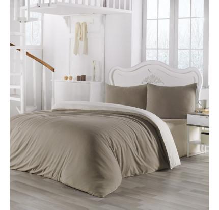 Постельное белье Karna Sofa (бежевый-кремовый)