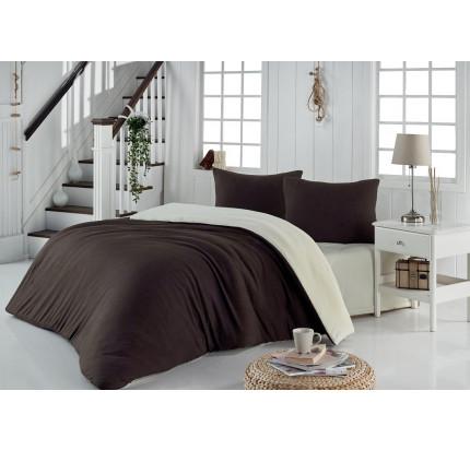 Постельное белье Karna Sofa (коричневый-кремовый)