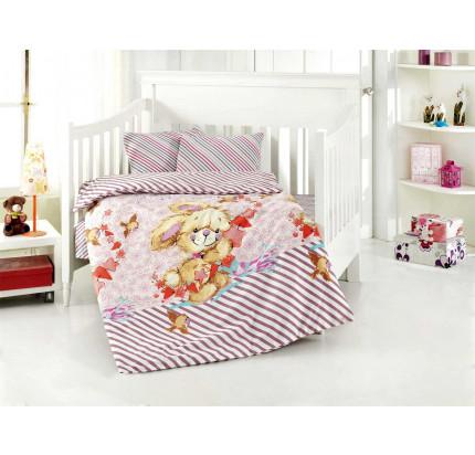 Детское белье в кроватку Altinbasak Pamuk (сиреневое)